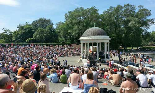 Stanley Park Bandstand 14th July 2013 - packed