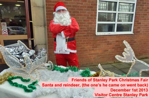 Santa at the Christmas Fair, Stanley Park Blackpool