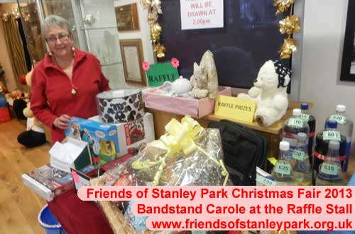 Carole at the Raffle Stall, Stanley Park Blackpool