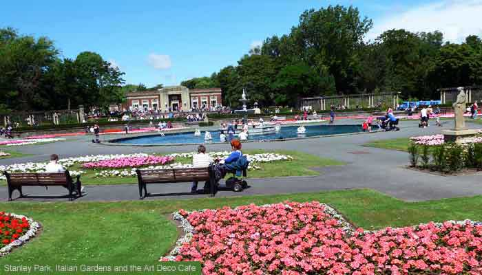 Stanley Park, Italian Gardens, Blackpool